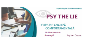 Psy the Lie - curs de analiza comportamentala by Ion Duvac @ Intell Psy & Psychological Profiler Academy