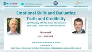 Emotional Skills and Evaluating Truth and Credibility @ IntellPsy & Psychological Profiler Academy by Ion DUVAC